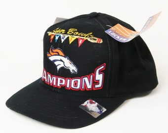 Denver Broncos Super Bowl XXXII 32 Champions 1998 Locker Room Cap New-Snap back