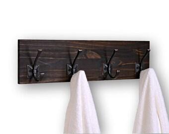Coat or Bath Towel Rack 4 Hooks