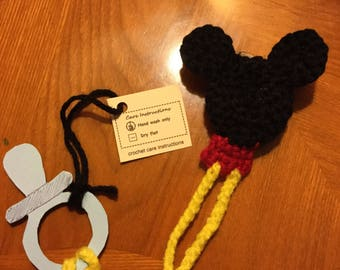 Mickey pacifier holder
