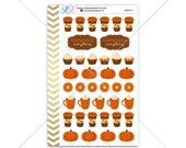 Pumpkin Spice Stickers for planner, calendar! Functional planner stickers coffee sticker functional sticker fall sticker #SQ00371