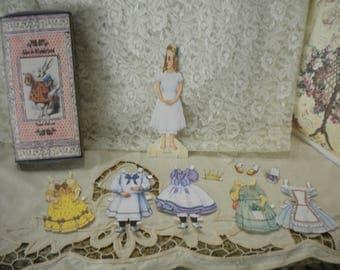 Alice in Wonderland Paper Doll Set