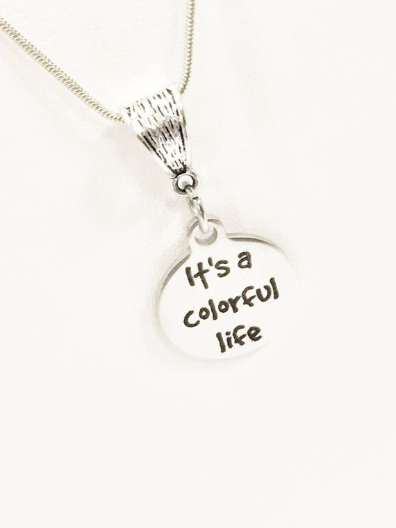 Wife Necklace, It's A Colorful Life Necklace, Colorful Gifts, Girlfriend Gifts, Wife Gifts, Wife Valentine, Girlfriend Valentine Day Gift