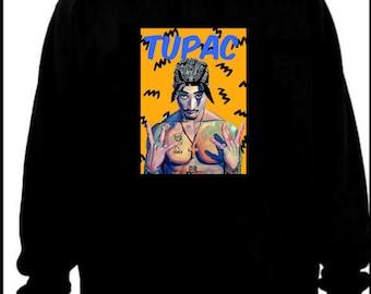 Tupac painting hoodie M/L