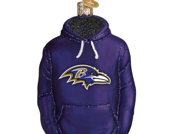 Baltimore Ravens Hoodie Ornament - Christmas Ornament - Personalized Holiday Decoration - NFL Licensed