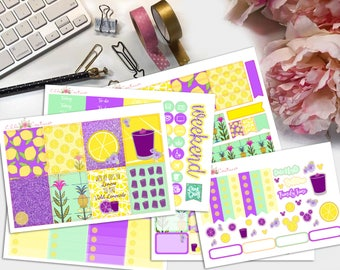 Violet Lemonade Planner Sticker Kit by Ella Couture by Jessica
