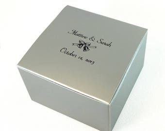 """Personalized Cupcake or Candy Favor Box 4x4x2.5"""""""