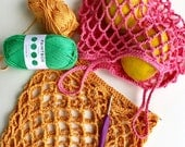 Crochet Pattern. Tiny Star Produce Bag. Small mesh market bag. Instant digital download.