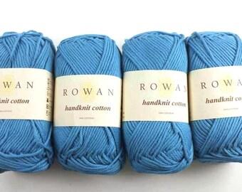 Rowan Handknit Cotton color Atlantic 346 blue, cotton knitting yarn