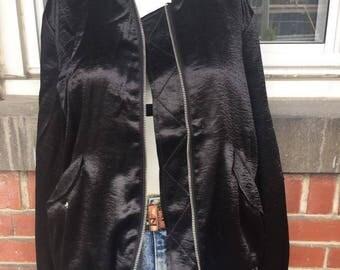 Silk bomber jacket Large