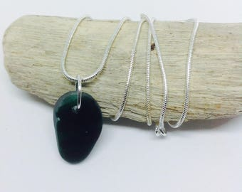 Green Sea Glass Necklace, Sea Glass, Sea Glass Jewellery, Sea Glass Jewelry, Mum Gift, 18th Birthday, Gift For Her Beach Necklace