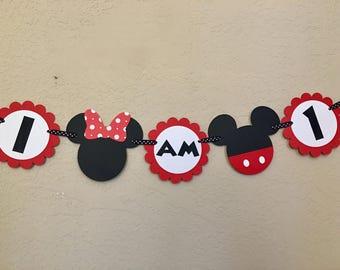 Minnie Mouse Highchair Banner, Minnie Highchair Banner, Minnie Mouse Birthday Party, Minnie Birthday Party, Minnie Mouse Party, Minnie Mouse