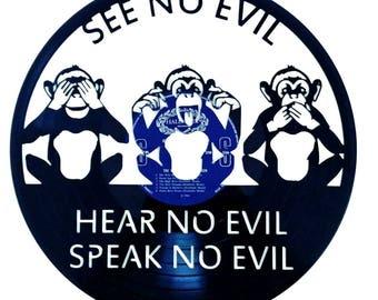 See no Evil - Vinyl Record Art