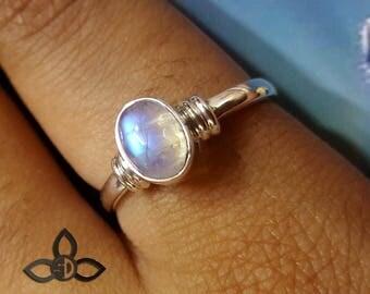 Rainbow Moonstone Ring, Rainbow Ring, Moonstone Ring, 925 Sterling Silver, Handmade Ring, Designer Ring, Birthday Gift, Thanks Giving Gift