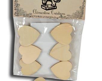 "Bag of 6 clips decorative 4 x 4 ""hearts"""