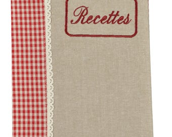 "Embroidery ""Recipes"" 22x30cm notebook cover"
