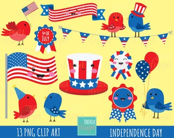 independence day clipart, 4th of july clipart, july fourth graphics, commercial use, kawaii clipart, american holiday clipart