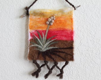 Southwestern Wall Decor felted wall hanging | etsy