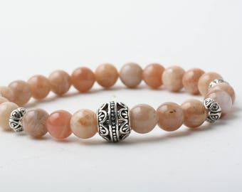 Stone bracelet with Sun, sun stone bracelet yoga, meditation bracelet, Bracelet, zen bracelet, gift for her