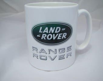 Land Rover Retro 10oz Ceramic Mug, Land Rover Range Rover Car Cup, Land Rover Classic Car Gift Idea Christmas Gift Idea