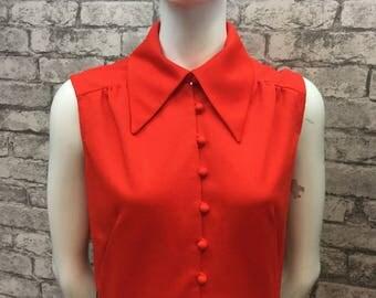 Berkertex 1970s red black maxi dress size 14-16