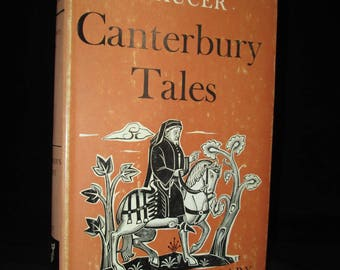 The Canterbury Tales by Geoffrey Chaucer 1962 Vintage Classics Book