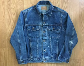 VTG 90s Gap Pioneer Jean Jacket - Small Mens - Denim Jacket - Vintage Clothing - Jeans - Vintage Denim - Workwear - Grunge - Trucker Jacket