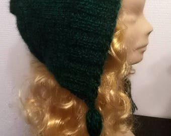 Mohair hood style hat