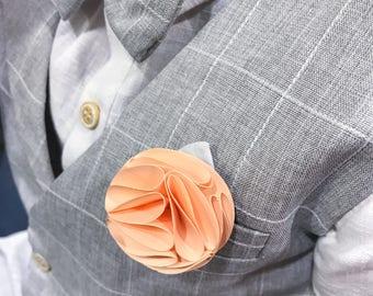 Boys Boutonniere - Ring Bearer - Wedding Boutonierre - Paper Flowers - Wedding Button Hole - Wedding Flowers - Grooms Flower - Lapel Pin