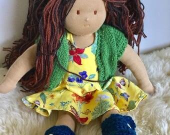 Silvercap 16inch Brown Hair Girl Waldorf Doll