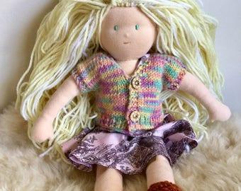 Silvecaps 13inch Blonde Girl Doll.