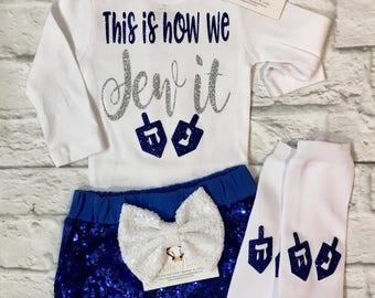 Baby Girl Clothes, Hanukkah Bodysuits, Jewish Holiday Shirts, Hanukkah Shirts, Jewish Holiday, Jewish, Hanukkah Shirt, Girls Hanukkah Shirts