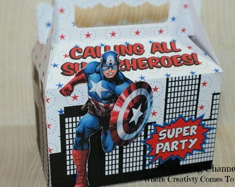 LG Captain American#2 Sets-Captain American-Birthday Treat Boxes-Superhero