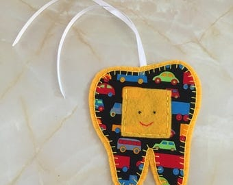 Tooth Fairy Hanger, vehicle print tooth fairy hanger,