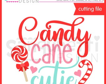Candy Cane Cutie SVG, Candy cane SVG, Winter svg, Christmas svg, Christmas lettering, eps, DXF, svg Files for Cutting Machines