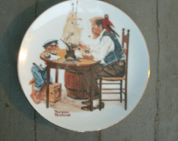 "Norman Rockwell 6"" Collectors Plate: ""Four Beloved Classics""; For A Good Boy, 1982, vintage plates, miniature, home decor, Christmas gift"