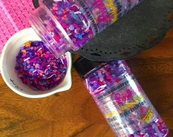 Birthday Cake - Bubble Bath Sprinkles - Bubbling Salt Soak - Vegan Friendly Bubble Bath - Valentines Day Gift