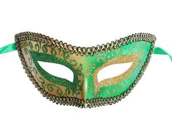 Green Venetian Mask Masquerade Ball Prom Party Mardi Gras Halloween Costumes Wedding Decoration 4J4A, SKU 7K13