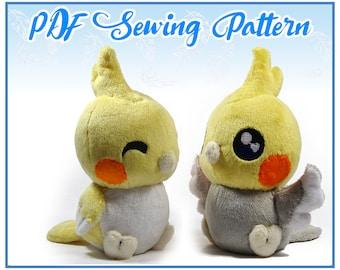 Chubby Chibi Bird Plush PDF Sewing Pattern