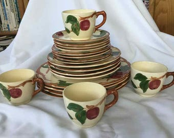 "Vintage Franciscan ""Apple"" 20 Piece Dinnerware Set - Made in USA - 1941 to 1978"