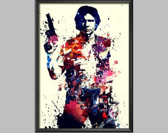 Han Solo Star Wars Digital Artwork Poster Wall Art Picture Print A4 - A3 - A2 - A1