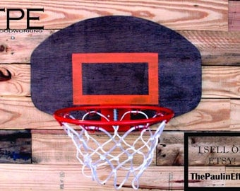 Vintage Designed Curved Basketball Hoop Basketball Wall Decor. Mini Basketball Hoop.Great for Man Cave, or Sports Themed Room-CHOOSE SIZE