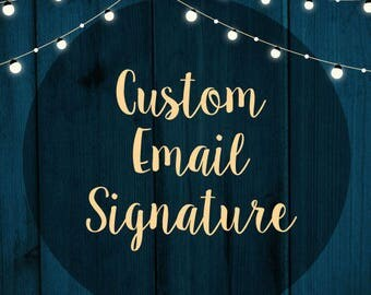 Custom Email Signature Design, Email signature, Graphic Design, Signature Design, Custom Design, Custom Email Signature, Image Signature