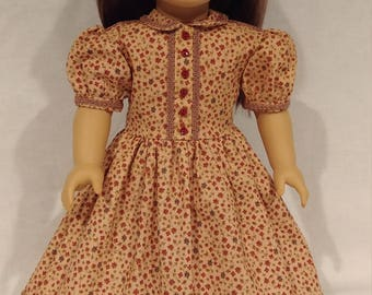 """Civil War Day Dress for your 18"""" Doll, Ready to ship and Made in Gettysburg!"""