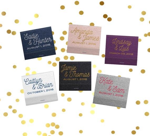 Personalized matches, wedding matchbooks, reception matches, monogram matchbook, sparkler send off matches, reception favor, party favor
