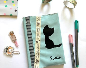 Planner 2017/2018 A6 planner cover customizable - pencil case - cat planner