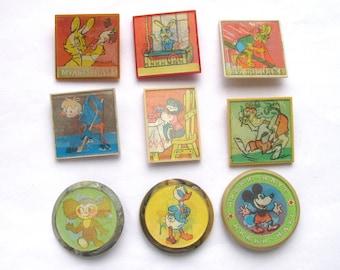Cartoon characters, Soviet Stereo Badge, Pick from Set, Cheburashka, Nu pogodi, Vintage collectible badge, Pin, Animal, Made in USSR, 1970s