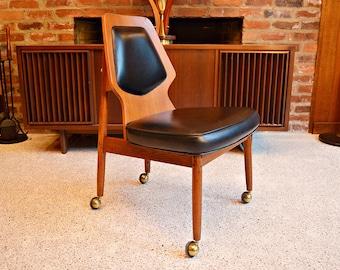 Mid Century Danish Teak Office Chair