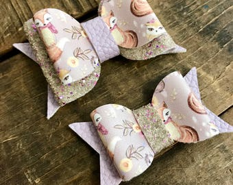 Lavender Bow Headband, Glitter Bow Headband, Fall Headband, Fox Headband, Fall Bow, Newborn Bow, Toddler Bow, Baby Bow Headband, Smash Cake