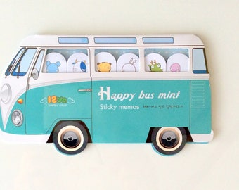 Happy bus - Mini block fancy memo notes