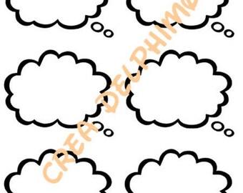 Stiker BULLEX6 conversation bubble sticker